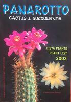 Panarotto Catalogue Cactus and Succulent 2002 Cactus Nursery Catalog