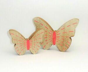Deko Schmetterling Holz rosa zum Stellen Dekofigur Frühling Sommer Aufsteller