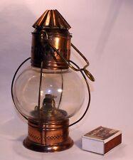 Magnifique et rare Lampe tempête en cuivre XIX ème siècle