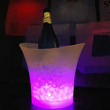 LED Ice Bucket 7 Colour Changing Champagne Wine Drinks Beer Bar Cooler Party UK