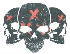 BLACK SKULLS WITH RED X Temporary Tattoo NEW DESIGN