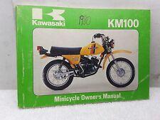 New NOS OEM Kawasaki Owners Manual 1980 KM100 KM100-A6 99920-1081-01