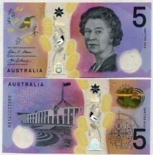 GEM UNC 2016 AUSTRALIA $5 POLYMER BANKNOTE SN# AD-AF CERTIFIED PMG 66 EPQ