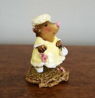 """Wee Forest Folk: """"Jackie O. Mole"""" Yellow Dress, Collectible, MO-5"""