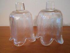 2 clear Tulip votive cups Vintage Home Interiors