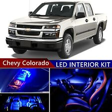 11 pcs LED Blue Light Interior Package Kit for Chevy Colorado 2004-2012