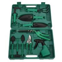 10 pcs Gardening Plant Tool Set Kit Shovel Rake Pruner Shears Garden Hand Tools