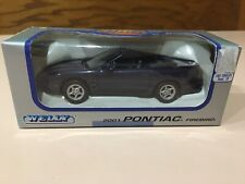 2001 Blue Pontiac Firebird Trans Am Convertible 98-02 01 '01 Ws6 Die cast 1:38
