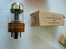 6SN7WGT Sylvania Chrome Top Black Plate Packed 1957 Valve Tube NOS NOV19C