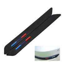 2PCS Rubber Front+Rear Bumper Scratch Protector Strip Corner Guard Sticker Well
