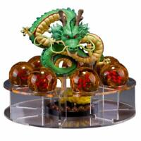 7pcs Dragon Ball Z Set Green Dragon and Dragon Balls Shenron Action Figure Stand