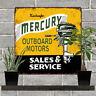 "Mercury Outboard Motor oil Sales Service Garage Man Cave Metal Sign 12x12"" 60756"