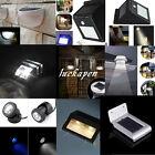 18Type Outdoor Solar LED Garden Fence wall gutter Path Motion Sensor Light AW