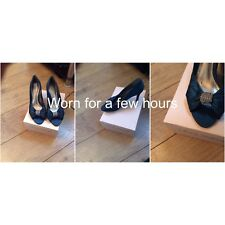 Phase Eight Diamonte Peep Toe Shoes Size 5 Pristine Holiday 9 May Until 16 June
