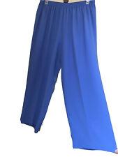 Howard Wolf Women's Plus Size 2Xl Blue Pants Elastic Waist Classic
