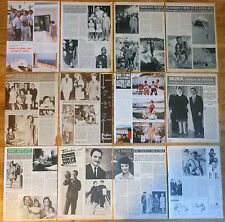 KING HUSSEIN OF JORDAN 1960s/1980s clippings magazine Royalty photos Muna