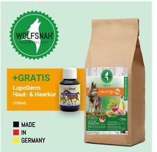 Wolfsnah Getreidefreies kaltgepresstes Futter 15kg HUHN+HANFÖL, Luposan gratis!