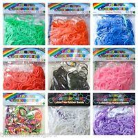 Loom band confezioni, vari colori, 300, 600, 900 & 1200 fascette