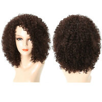 Fashion Short Afro Kinky Curly Hair Wigs for Black Women Synthetic Full Hair Wig