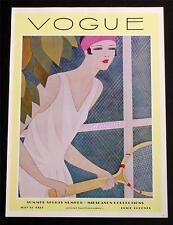 VOGUE FASHION MAGAZINE COVER POSTER JULY 15 1927 SUMMER SPORTS TENNIS ART PRINT