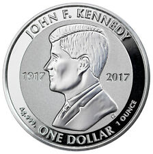 2017 British Virgin Islands John F Kennedy 1 oz Silver Reverse Proof $1 SKU47005
