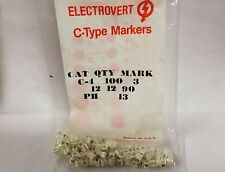 Wieland Electric Electrovert  C-Type Clip On Markers C4P3 C4P-3 Cable Harnessing