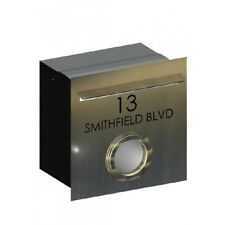 Smithfield Stainless Steel Letterbox - Brickin Mailbox or Fence Mount Letter Box