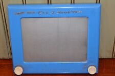 Vintage Ohio Art  RARE BLUE Magic Etch-A-Sketch Magic Magnetic Screen Drawing