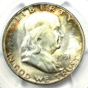 1951 Franklin Half Dollar 50C Coin (1951-P) - Certified PCGS MS67 - $1,300 Value