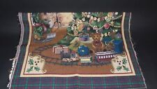 Christmas Scene Tree Fireplace Toys Train Wall Unfinished Tapestry Craft Fabric