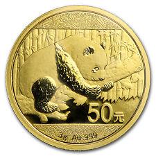 2016 China 3 gram Gold Panda BU (Sealed) - SKU #92377