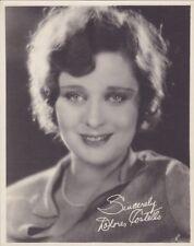 """DOLORES COSTELLO Original Vintage '20s """"Signed"""" Studio Silent DBW Portrait Photo"""