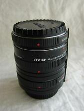 Minolta MD Fit Vivitar Automatic Extension Tube 12mm 20mm 36mm AT-5 + Case