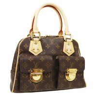 LOUIS VUITTON MANHATTAN PM HAND BAG VI1015 PURSE MONOGRAM CANVAS M40026 36455