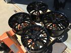 Black 18x8.5 19x10 C7 Z06 Corvette Wheels 2014 - 2016 Stingray Gm Caps Lugs Wow