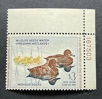 WTDstamps - #RW27 1960 Plate# - US Federal Duck Stamp - Mint OG NH