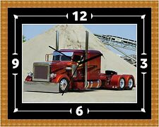 Peterbilt (2) Wall Clock Gift Present Christmas Birthday (Can Be Personalised)