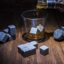 9pcs Whiskey Whisky Scotch Soapstone Cold Glacier Stone Ice Cubes Rocks w/ Bag