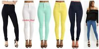 Ladies High Waisted Skinny stretchy Tube Jeans Jegging UK size-4,6,8,10,12,14,16