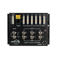Combo 1 x 6 Telephone & 2 x 6 Video Distribution Module