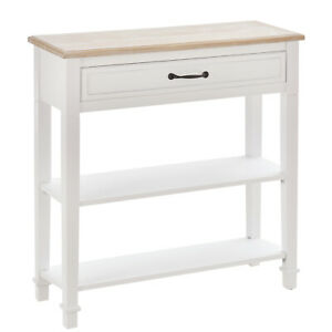 HOMCOM Modern Style Sofa Console Entry Hallway Table with Multifunctional Design