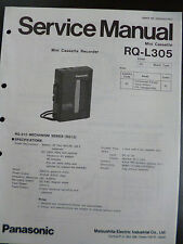 Original Service Manual Panasonic Mini Cassette RQ-L305