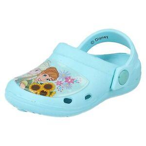 Frozen by Disney Elsa Light Blue Girls Clog Mule Sandals Shoes