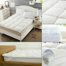 "10cm Microfibre Luxury Soft Hotel Quality Mattress Topper Soft 4"" Deep Pad Mat"