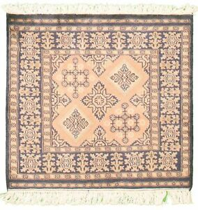 """Modern Hand-knotted Carpet 2'8"""" x 2'7"""" Oriental Wool Area Rug"""
