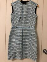 BNWT Balenciaga Blue Tweed Shift Dress FR 38 UK 10 US 6 M RRP AU$1895