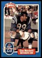 1988 Hall of Fame BLUE #75 Gino Marchetti RARE Baltimore Colts / Dallas Texans