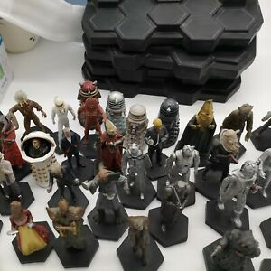 Eaglemoss Doctor Who Figure Collection with display stands