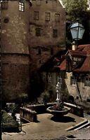 MEERSBURG Bodensee AK 50/60er Jahre alte AK Bären-Brunnen Motiv Ansichtskarte