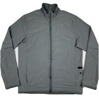 Nike Fit Dry Plus Mens Medium Running Jacket Gray Blue Vented